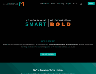 millsmarketing.com screenshot
