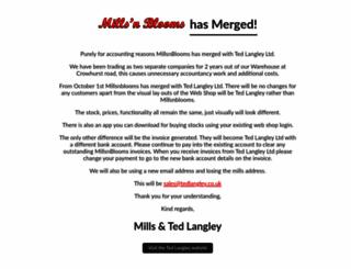 millsnblooms.co.uk screenshot