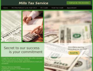 millstaxservice.org screenshot