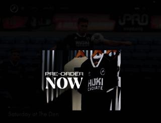 millwallfc.co.uk screenshot