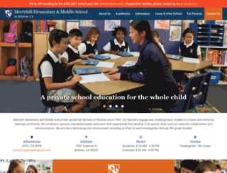 milpitas.merryhillschool.com screenshot