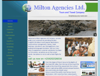 miltonagenciesltd.co.ke screenshot