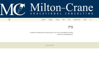 miltoncrane.com screenshot