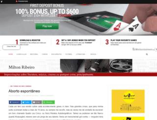 miltonribeiro.sul21.com.br screenshot
