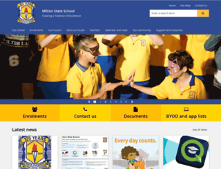 miltonss.eq.edu.au screenshot