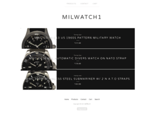 milwatch1.bigcartel.com screenshot