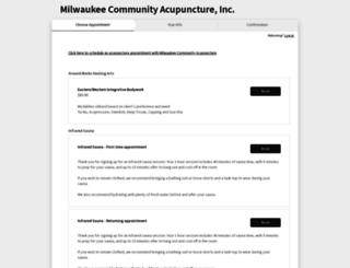milwaukeecommunityacupuncture.acuityscheduling.com screenshot