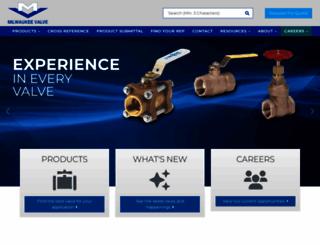 milwaukeevalve.com screenshot