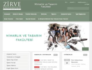 mimarlik.zirve.edu.tr screenshot