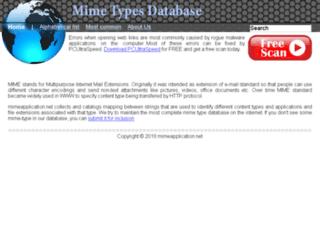 mimeapplication.net screenshot