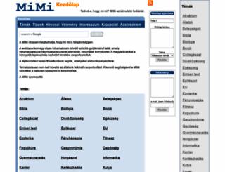 mimi.hu screenshot