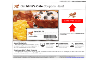 mimiscafe.couponrocker.com screenshot