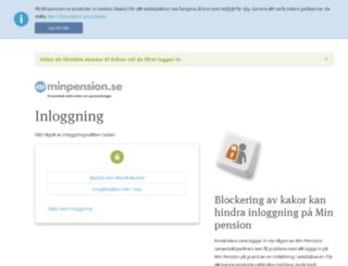 minasidor.minpension.se screenshot