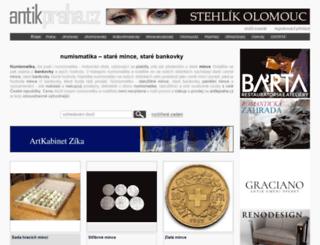 mince-numismatika.antikpraha.cz screenshot