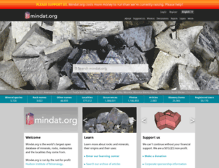 mindat.org screenshot