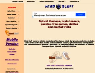 mindbluff.com screenshot