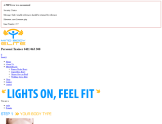 mindbodyelite.com.au screenshot