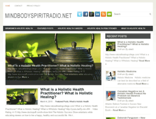 mindbodyspiritradio.net screenshot