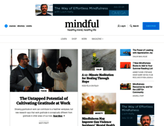 mindful.org screenshot