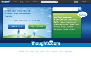 mindlint.thoughts.com screenshot