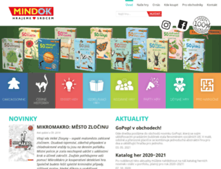 mindok.cz screenshot