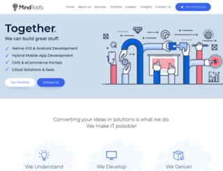 mindrootstechnologies.com screenshot
