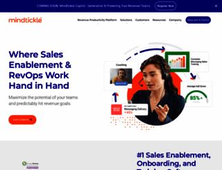 mindtickle.com screenshot