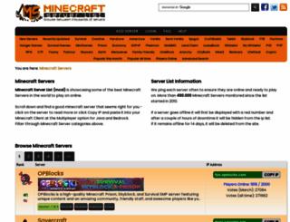 minecraft-server-list.com screenshot