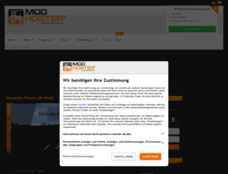 minecraft.modhoster.de screenshot