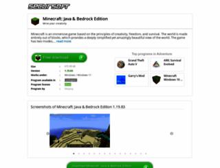 minecraft.secursoft.net screenshot