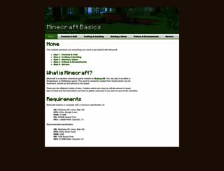 minecraftbasics.net screenshot