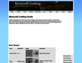 minecraftcrafting.info screenshot
