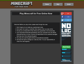 minecraftforfreenow.net screenshot