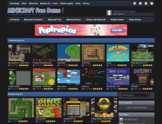 minecraftfreedemo.com screenshot
