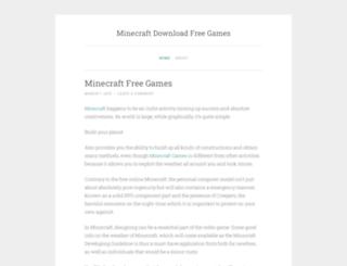 minecraftgamesinfo.wordpress.com screenshot