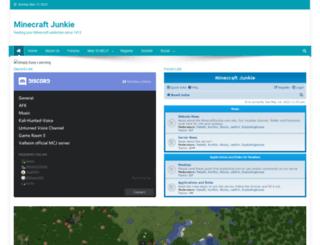 minecraftjunkie.com screenshot
