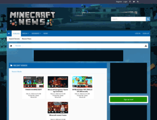 minecraftnews.net screenshot