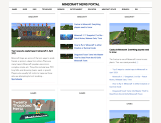 minecraftnews.org screenshot