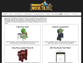 minecraftnoobtest.com screenshot