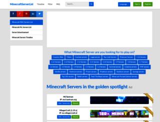 minecraftserverlist.eu screenshot