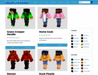 minecraftskins.net screenshot