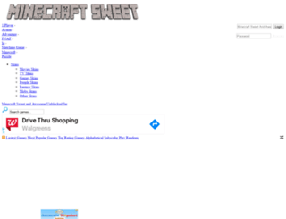 minecraftsweet.com screenshot
