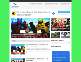 minecraftt.org screenshot