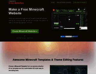 minecraftwebsites.com screenshot