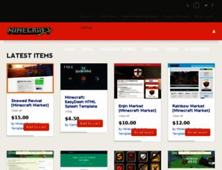 minecraftwebsitetemplates.com screenshot