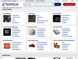 mineral-metals.exportersindia.com screenshot