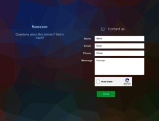 mineral.com screenshot