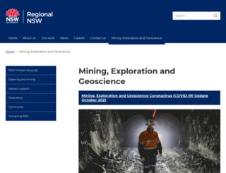 minerals.nsw.gov.au screenshot