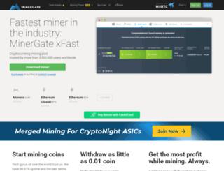 minergate.com screenshot