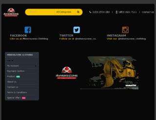 minerszoneclothing.com screenshot